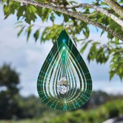 Crystal Tear Drop Spinner -  Hanging Wind Spinner  - 12