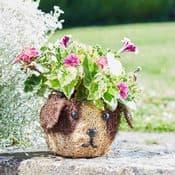 Cute Dog - Rattan Pet Planter