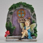 Day Dream Cottage Fairy Door with Fairy.