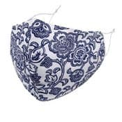 Designer Cotton Face Mask - Navy Floral - Face Covering - Reusable