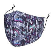 Designer Cotton Face Mask - Purple Snake  - Face Covering - Reusable