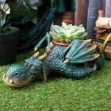 Dozing Dragon Planter -  31.8cm