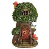 Elfin Oak - Solar - LED Colour changing Fairy House