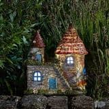 Elfstead - LED  - Solar - LED Colour changing Fairy House