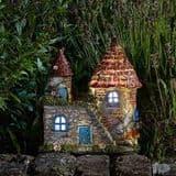 Elfstead - LED  - Solar - LED Colour changing Fairy House