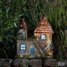 Elfstead - LED  - Solar - LED Colour changing Fairy House.