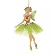 Enchanted Forest Fairy -  Ballerina Fairy - Green