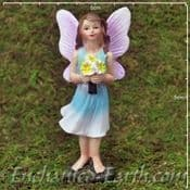 Enchanted Woodland Fairy - Standing fairy with a bunch of flowers