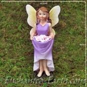 Enchanted Woodland Fairy - Standing fairy with a Skirt full of flowers