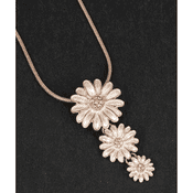 Equilibrium - Dainty Daisies Necklace - Rose Gold Plated