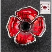 Equilibrium - Large Poppy Pin Brooch - Gift Boxed