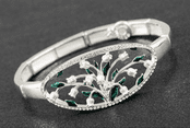 Equilibrium - Lily Of The Valley Oval Bracelet