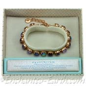 Equilibrium - Rose Gold Plated - Multi - Colour  15 Crystal Bracelet
