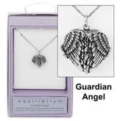 Equilibrium Silver Plated-Guardian Angel Wings Locket & Necklace
