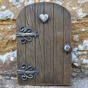 Extra Thick Chunky Woodland Heart Fairy Door