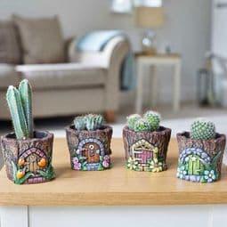 Fairy Door - Pixie Pots - 6cm (Choose from 4 designs).