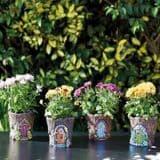 Fairy Door Pixie Pots - Large 15cm -   4 designs