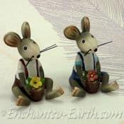 Fairy Garden Miniatures  - Cute Garden Mice  -  4 to choose from - 8cm