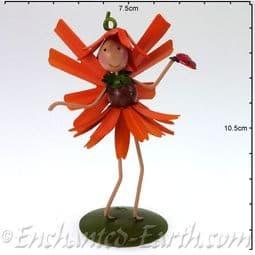 Fairy Kingdom Metal Fairy -  Grace the Gerbera Fairy - 10cm.