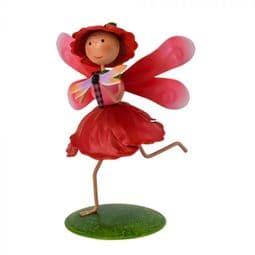 Fairy Kingdom Metal Fairy - Penny The  Poppy Fairy.