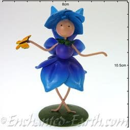 Fairy Kingdom Metal Fairy - Phoebe The Blue Forget-Me-Not Fairy - 10cm.