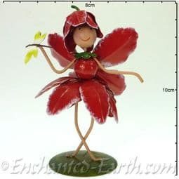 Metal Fairy Kingdom Fairy - Christie the Pink Chrysanthemum Fairy - 10cm.