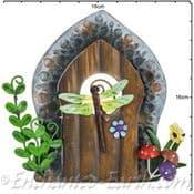 Fairy Kingdom  Opening Metal Fairy Door - Dragonfly Window