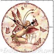 Fairy & Magical Mushroom Wall Clock (large 34cm)