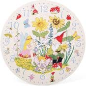 Fairy & The Gnome Wall Clock (large 34cm)