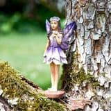 Fantasy Forest Fairy - Anemone - 10cm Tall (with magnetic base)