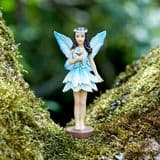 Fantasy Forest Fairy - For-get-me-not - 10cm Tall (with Magnetic base)