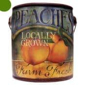 Farm Fresh Large Scented Candle in a a rustic ceramic pot - Juicy Peach