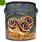 Farm Fresh Large Scented Candle in a a rustic ceramic pot - Praline Caramel Sticky Buns