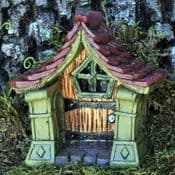 Fiddlehead - Copper Magical Arched Fairy Door