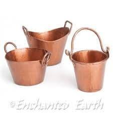 Fiddlehead Copper miniature Garden Metal  Bucket.