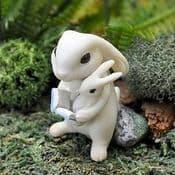 Fiddlehead Fairy Garden Bunny with book & baby