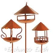 Fiddlehead - Fairy  Garden Copper Bird Table (3 styles to choose from)