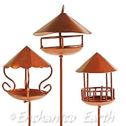 Fiddlehead - Fairy  Garden Copper Bird Table (3 styles to choose from).