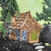 Fiddlehead Fairy House- Shingletown Country Cottage with Open/Close Door