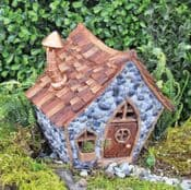 Fiddlehead Fairy House- Shingletown Crooked Cottage with Open/Close Door