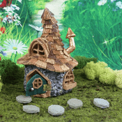 Fiddlehead Fairy House- Shingletown Troll Cottage with Open/Close Door