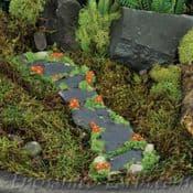 Fiddlehead - Long Slate & Flower Pathway (19cm)