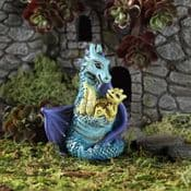 Fiddlehead Miniature Dragon with Baby Dragon