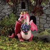 Fiddlehead Miniature Dragon with Flowers