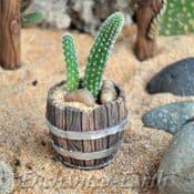 Fiddlehead- Miniature Garden Barrel Planter