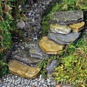 Fiddlehead - Miniature Garden - Stone steps/Garden Pathway
