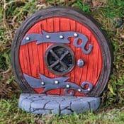Fiddlehead - Red Magical Round Hobbit Door
