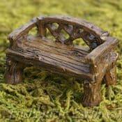 Fiddlehead Rustic Woodland Bench