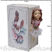 Flower Fairy Bank-  Rose in a book - 13.5cm