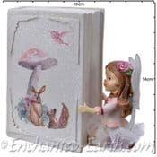 Flower Fairy Bank-  Rose Reading a book - 13.5cm